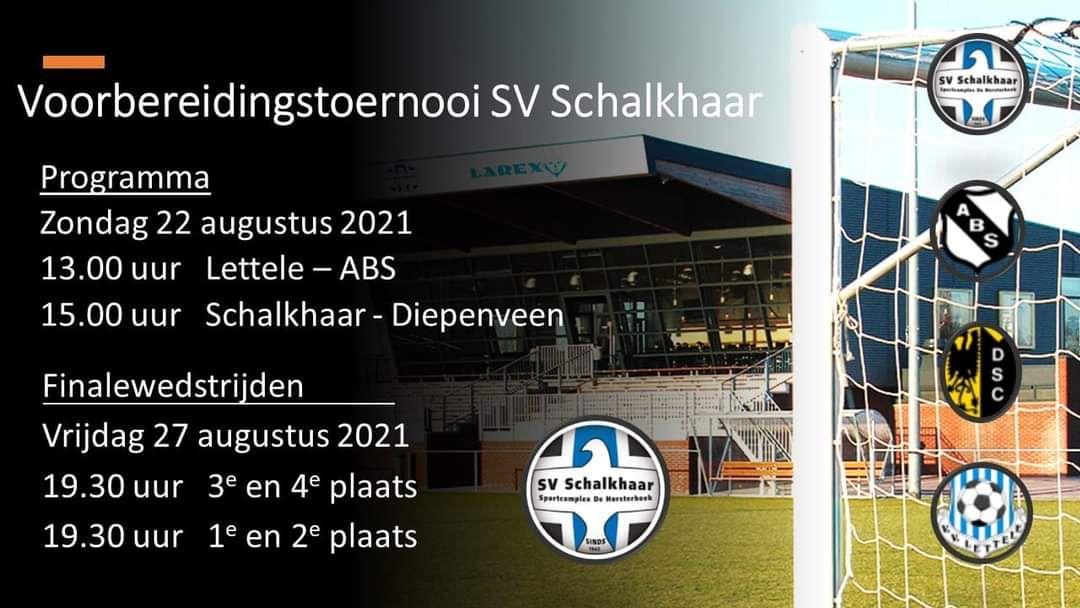 Diepenveen 1 actief bij toernooi SV Schalkhaar
